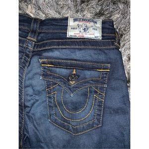 True religion dark blue jeans